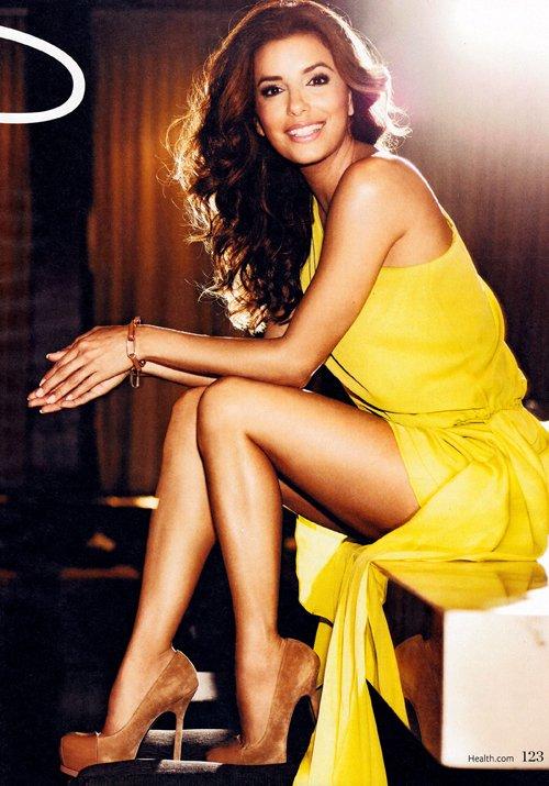 Eva Longoria poses on the cover of Health, January/February 2012