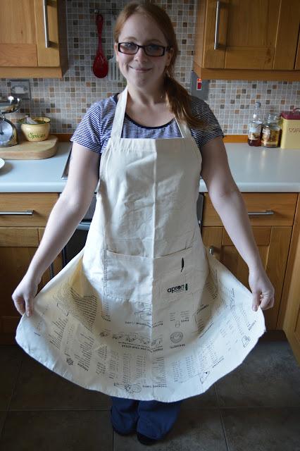 Upside down measurements apron