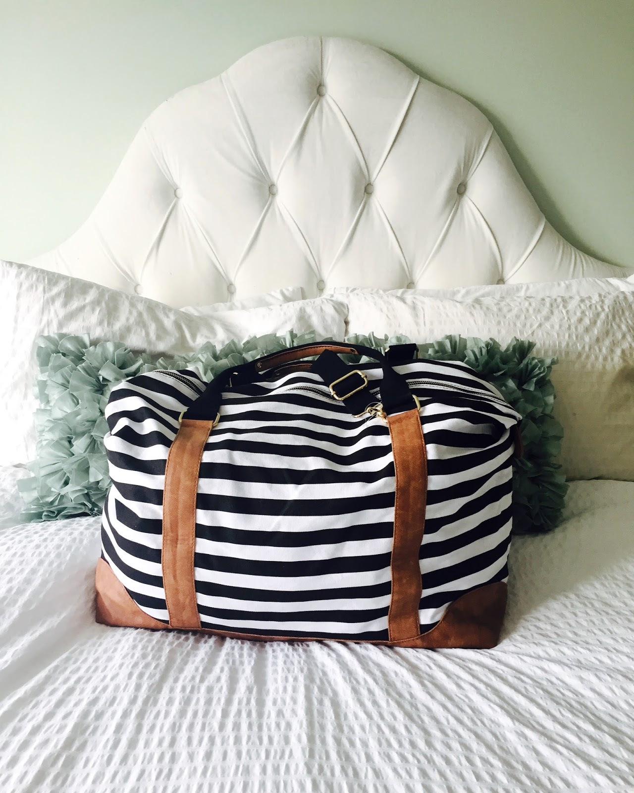 FORTUNATE HOUSE: Friday Favourite: Striped Weekender Bag