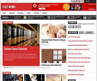 flash news latest professional blogger templates 2014 for blogger or blogspot