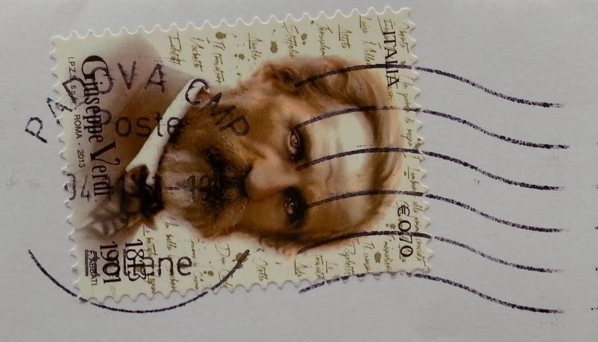 il francobollo dedicato a Giuseppe Verdi