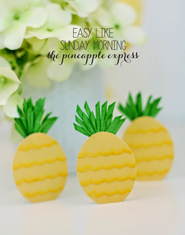 Makers + Shakers Damask Love pineapples tags