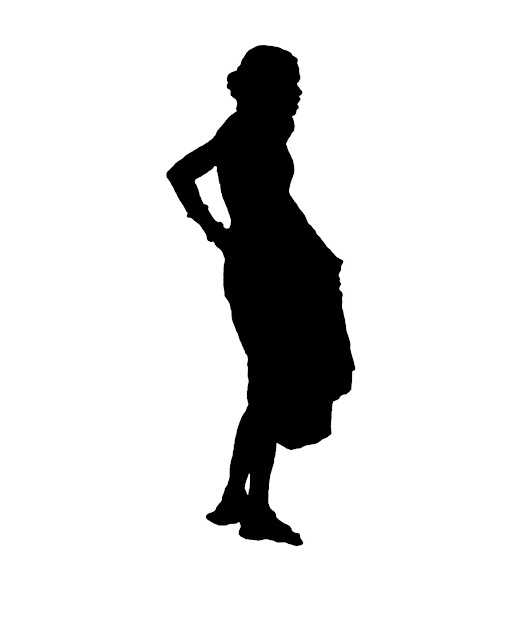 silhouette of woman coolie
