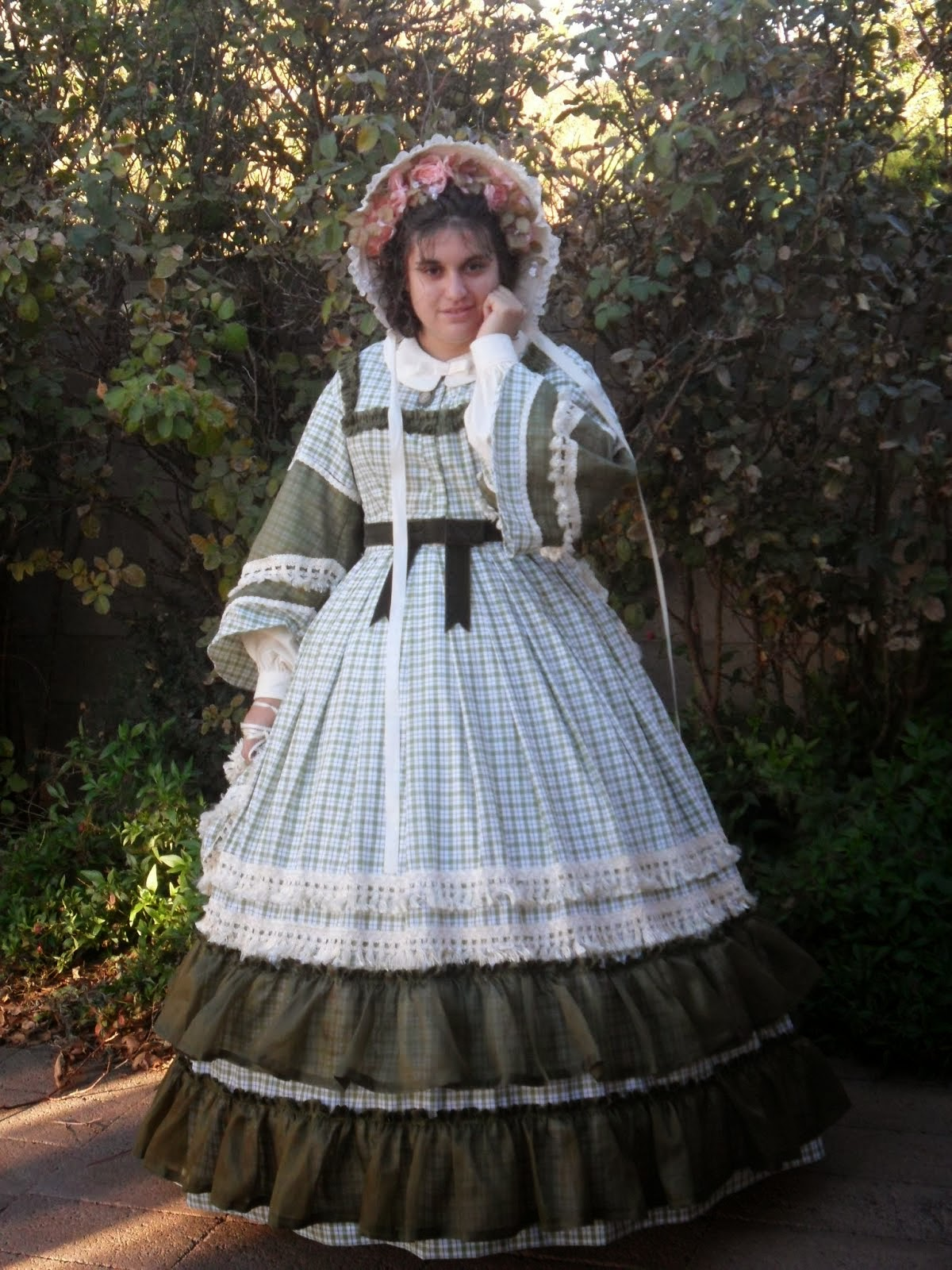 Green Cotton Civil War Dream Dress