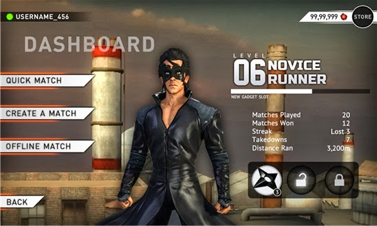 Krrish 3 official game for Windows Phone 8
