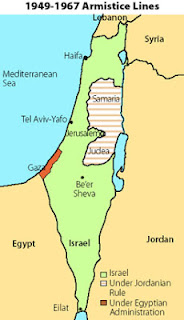 Where does band name Front 242 come from - UN resolution 242 - Map of Israel with 1949-1967 Armistice lines