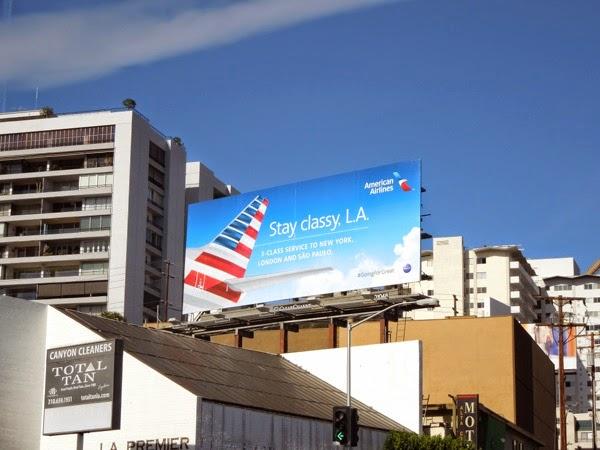 Stay classy LA American Airlines billboard
