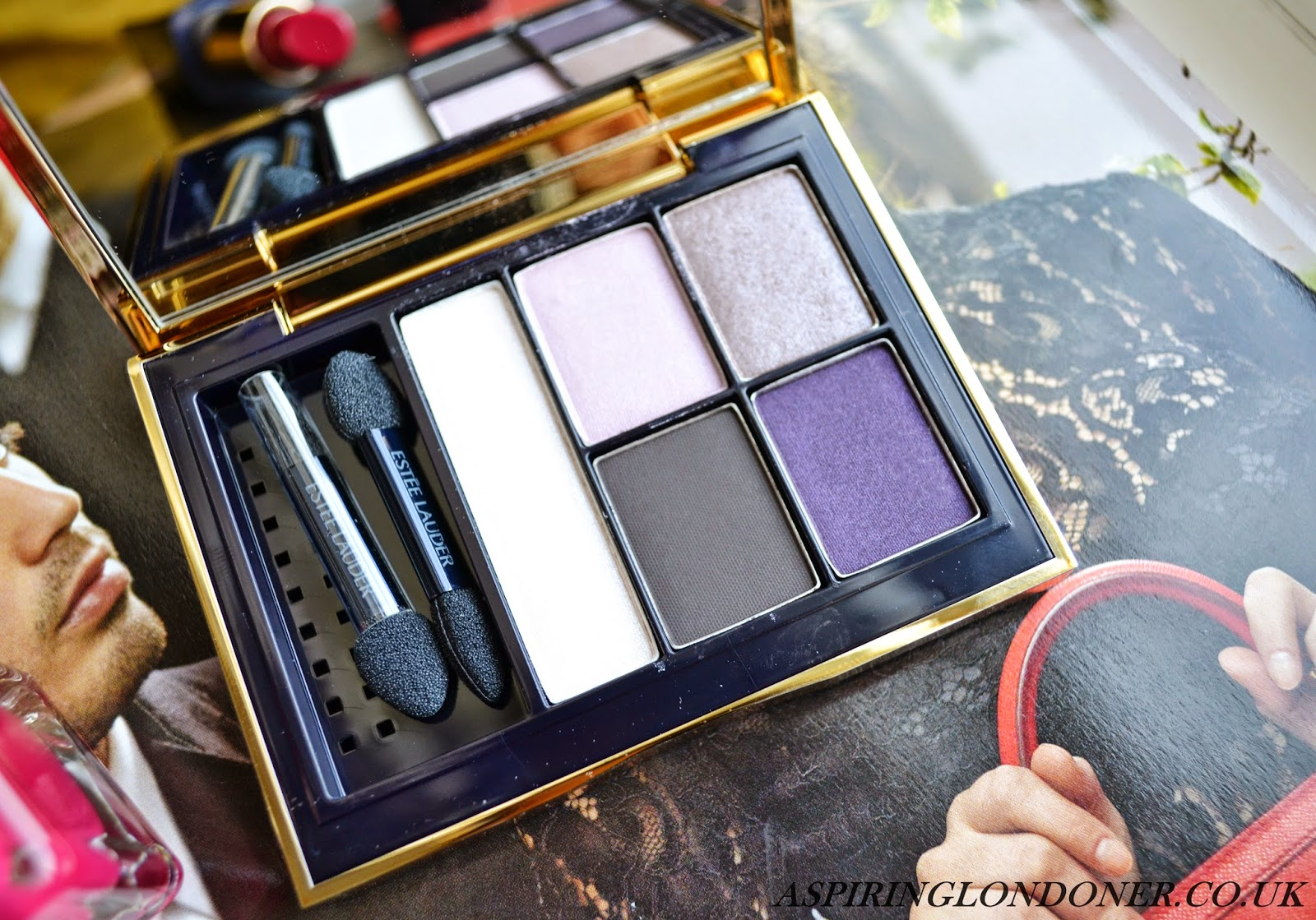 Estee Lauder Sculpting EyeShadow 5-Colour Palette in Envious Orchid - Aspiring Londoner