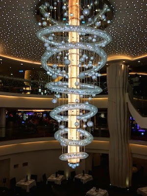 Chuck and Lori's Travel Blog - Chandelier on Norwegian Epic