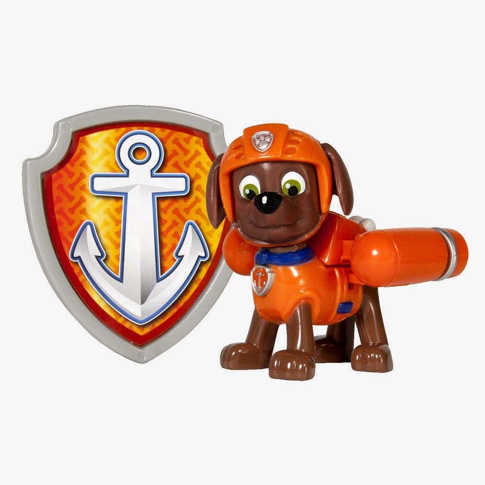 JUGUETES - Paw Patrol : La Patrulla Canina  Zuma | Figura - Muñeco + Placa  Toys | Serie Televisión | Spin Master | A partir de 3 años