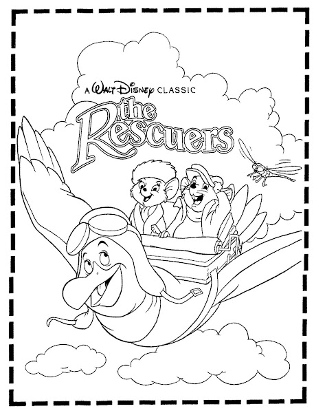 Disney Rescuers Coloring Pages