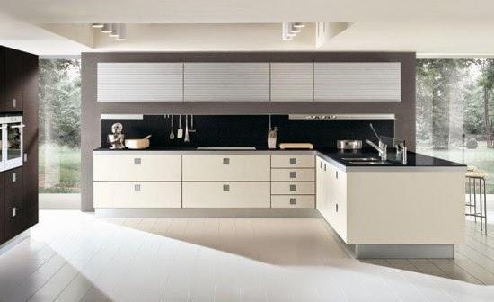 Elegance open space living kitchen area ideas from for Cocinas minimalistas blancas
