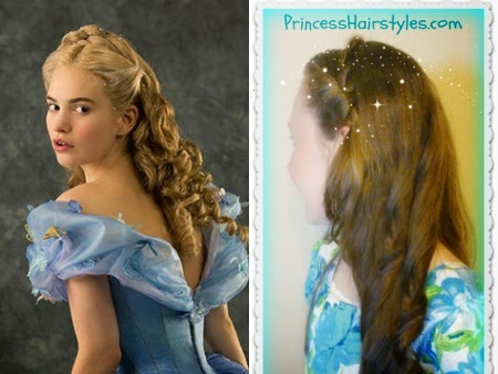 Cinderella hairstyle video tutorial