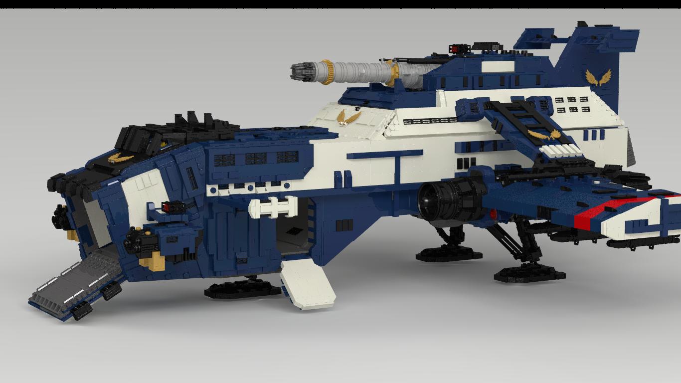 Cañonera Thunderhawk con piezas de Lego