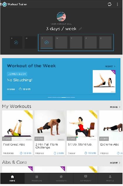 Le 6 migliori applicazioni per i tuoi allenamenti - Workout trainer