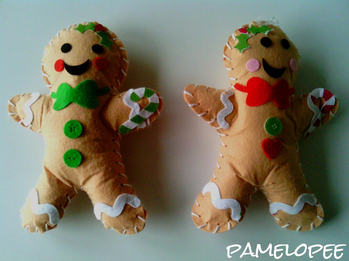 pamelopee: Pfefferkuchen-Männer oder: Die Kinder nähen ja so schön!