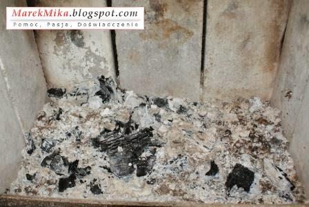 Sporo niedopalonych drewnianych ogryzków.
