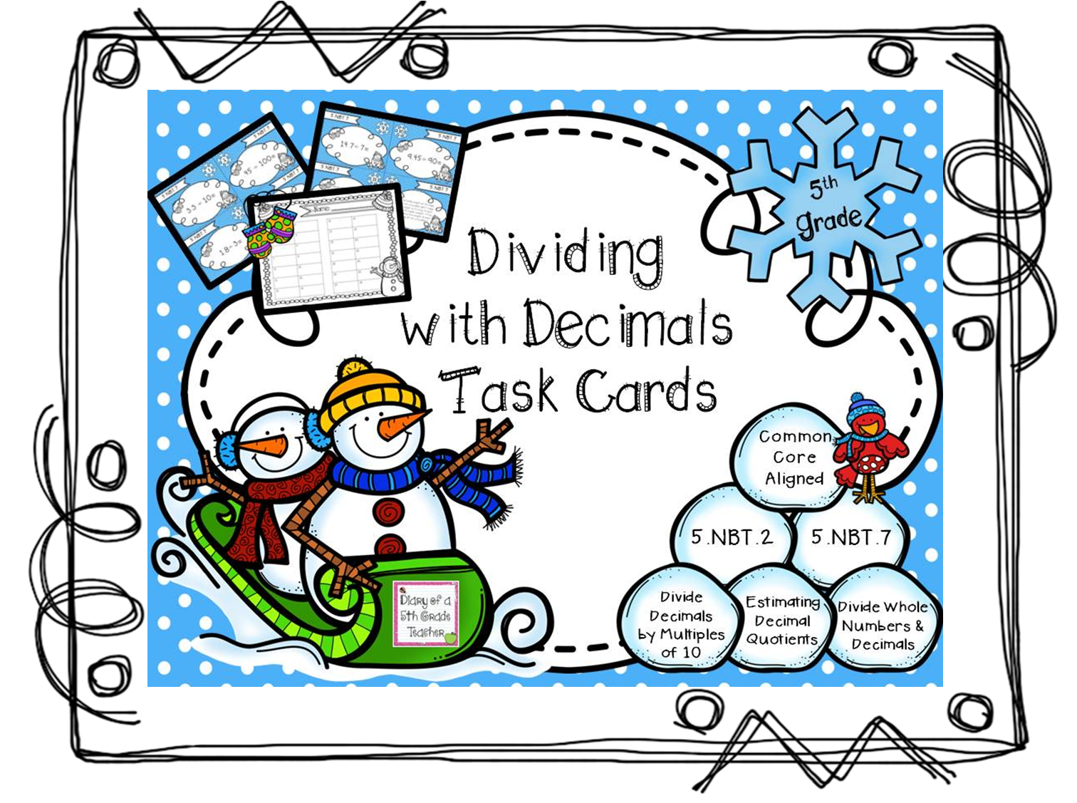 worksheet Dividing Decimals diary of a 5th grade teacher dividing decimals these task cards cover the following with multiples 10 100 1000 estimating quotients and whol
