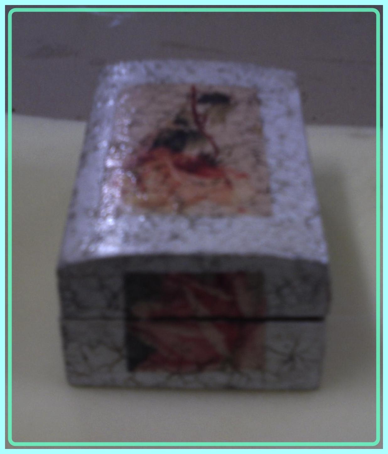 Simplemente manualidades caja de madera craquelada - Manualidades caja de madera ...