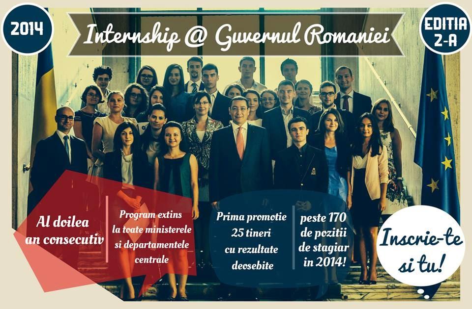 Intership la Guvernul României, seria a II-a, 2014...
