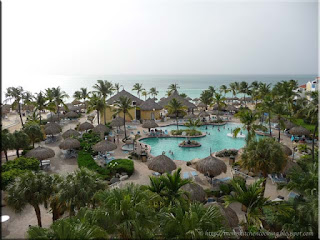 the view from our balcony at the Costa Linda in Aruba