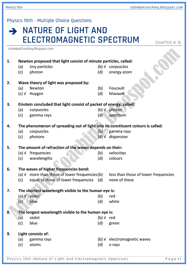 Nature Of Science Multiple Choice Questions