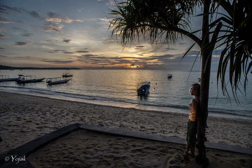 coucher de soleil sur Lembongan