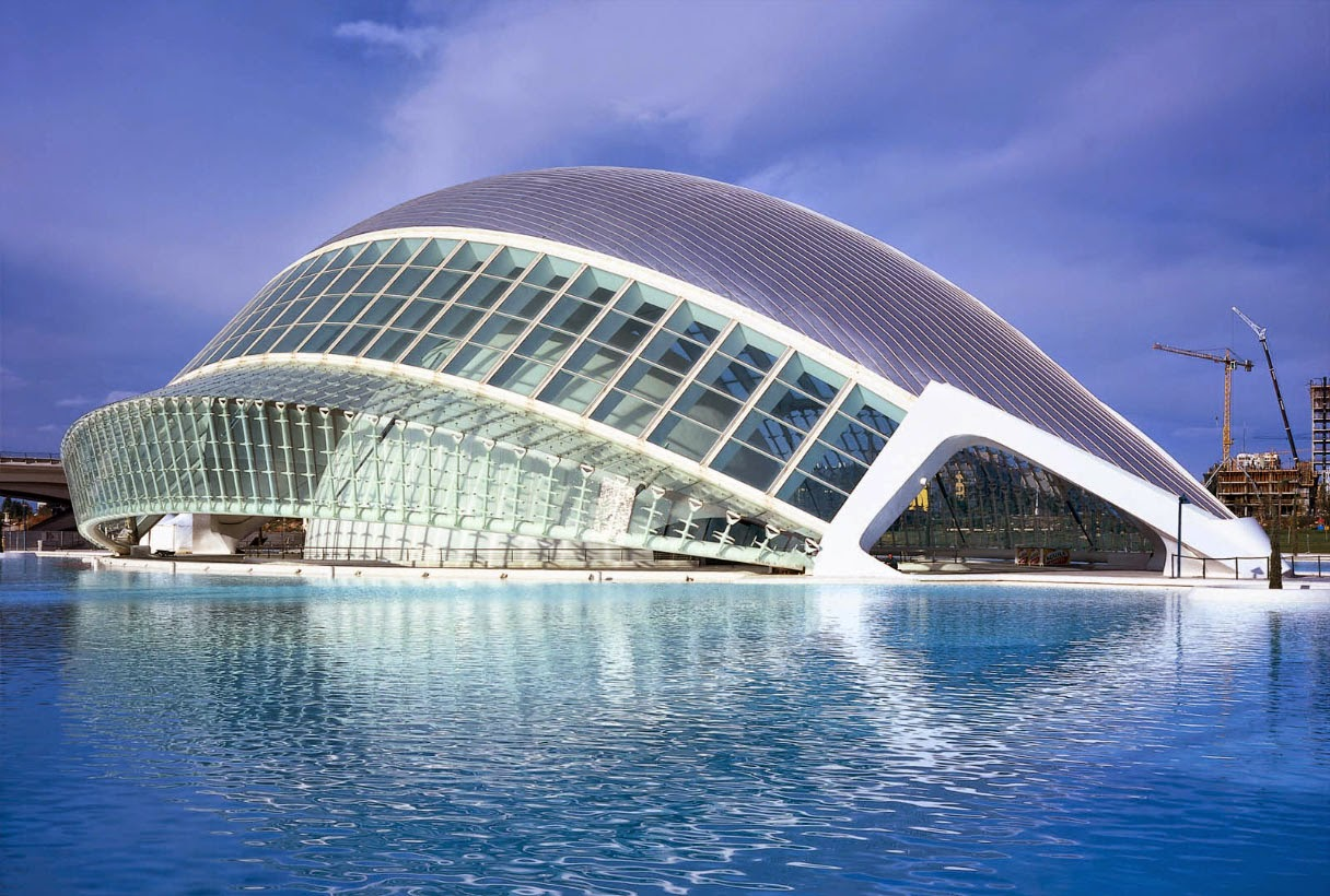 LHemisfèric i Valencia af Santiago Calatrava
