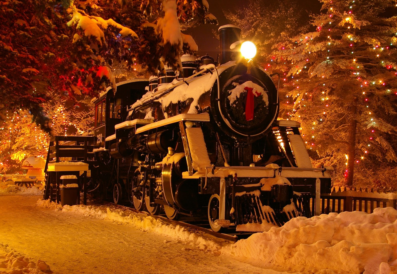 Image result for christmas train