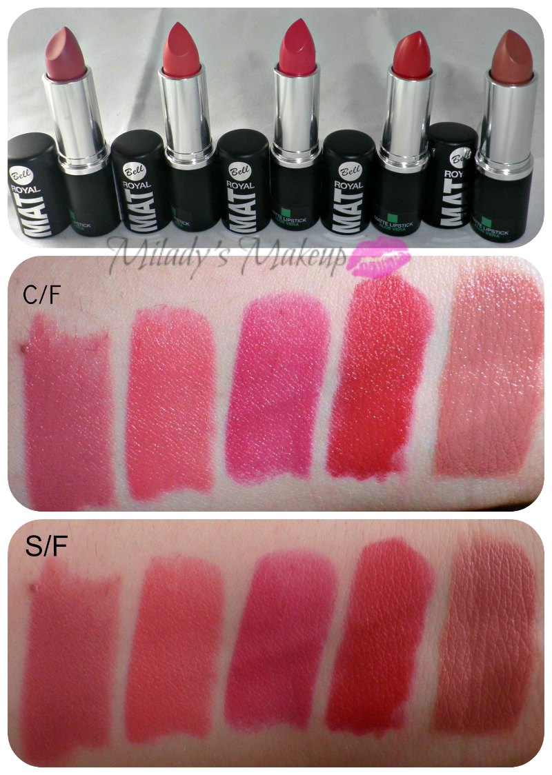 Swatches Royal Mat Bell lipstick