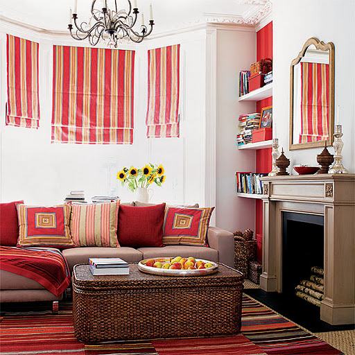 Red and Orange Living Room Decor