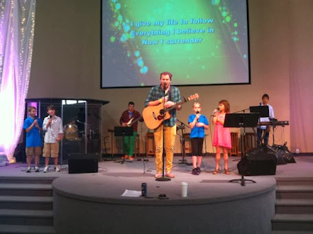 OC Kids helping lead worship