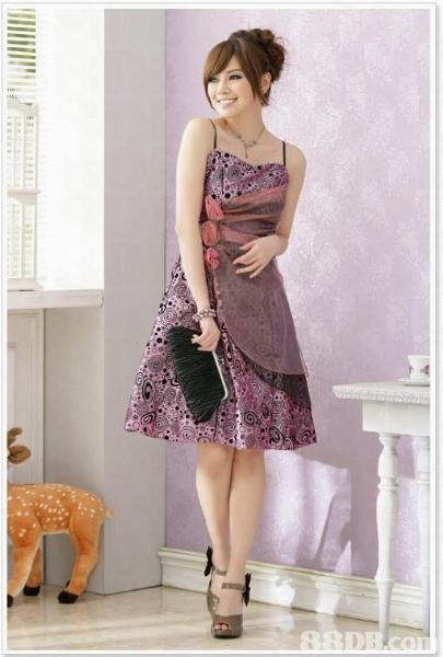 Desain pesta ini di gunakan untuk wanita remaja yg suka berwarna ungu