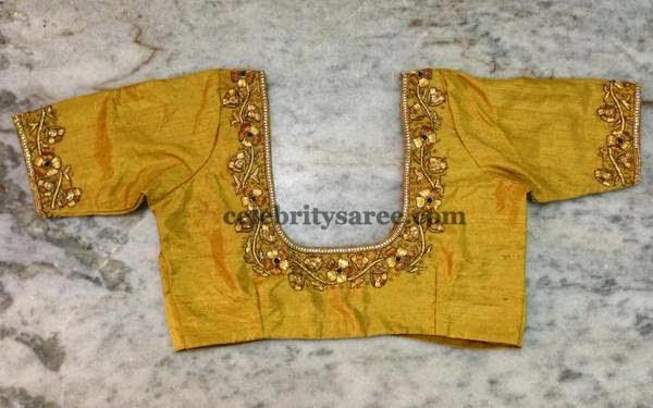 Simple Floral Blouse Designs - Saree Blouse Patterns