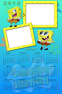 calendario de Bob 2012 BOB+ESPONJA+2012