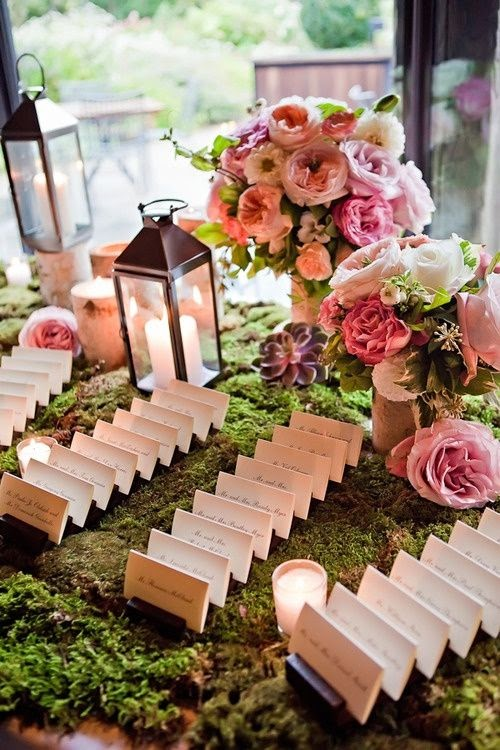 rustic place card setting idea