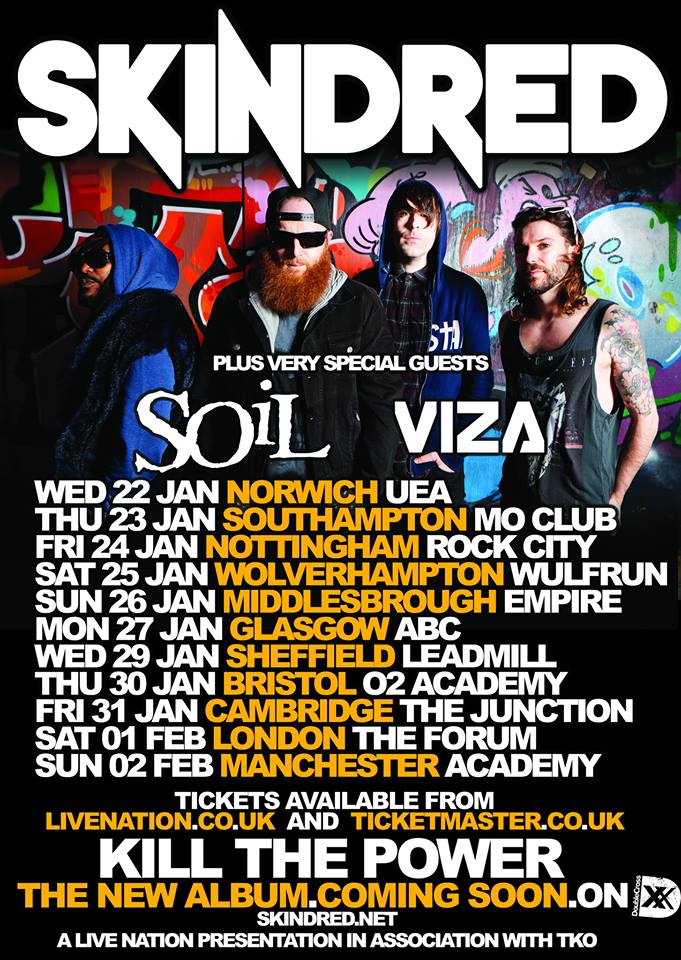 Mr stu 39 s reviews skindred soil announce uk tour for Soil band albums