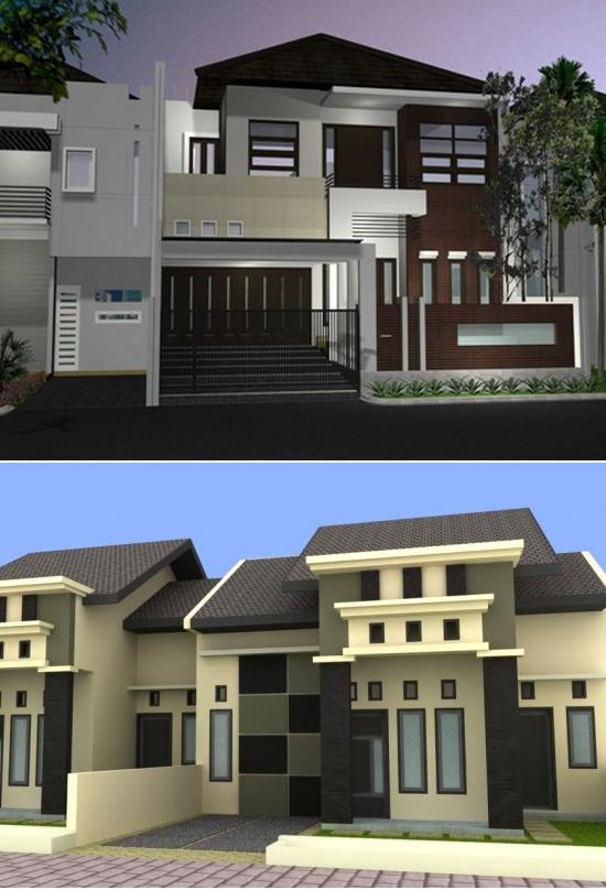kombinasi warna cat rumah minimalis desain rumah minimalis