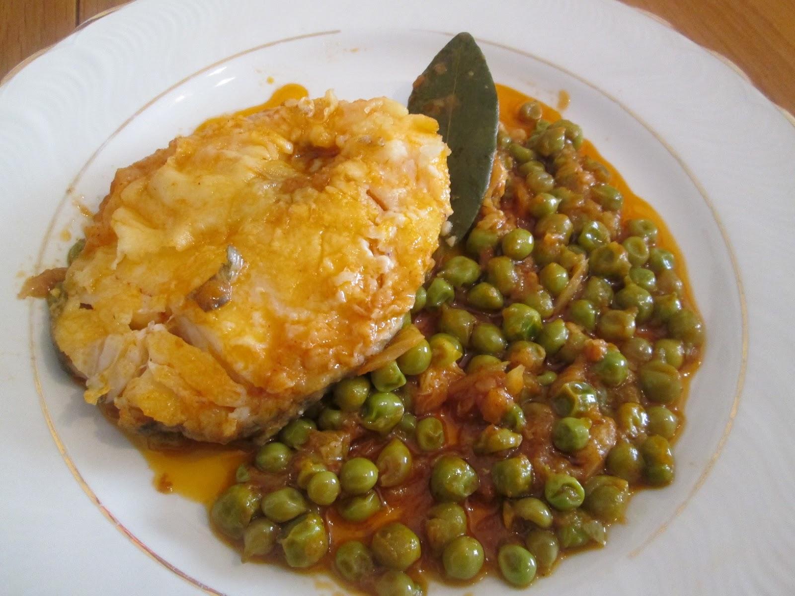 Cocinar no es dif cil pru balo bacalao con guisantes for Cocinar guisantes frescos