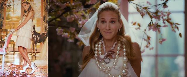 Carrie Bradshaw vestida de novia por Lanvin