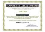 """""""Escritora Imortal"""" pela Academia de Letras do Brasil"""