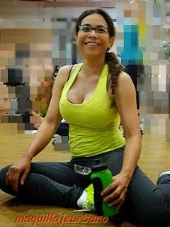 Gina Rojas en el gimnasio
