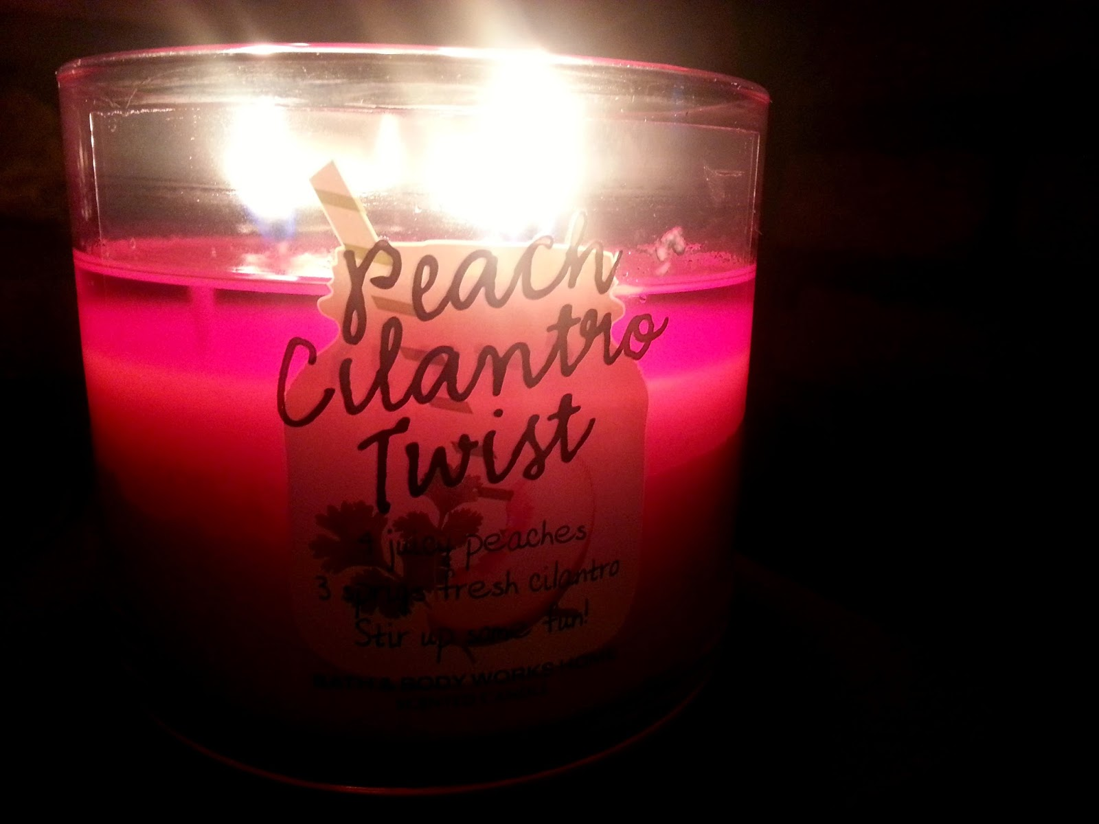 Bath & Body Works Peach Cilantro Twist Candle