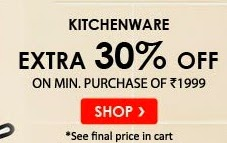 Extra 30% off on kitchenware from Snapdeal