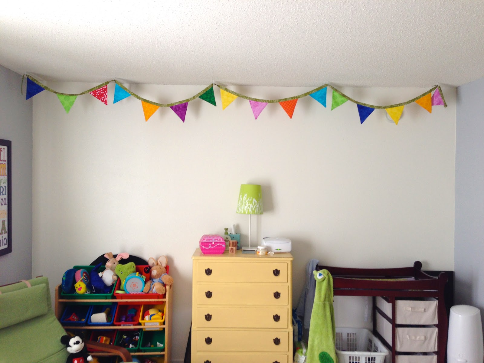 Kids Bedroom Bunting merryweather's cottage: it's a small world kids room: bunting