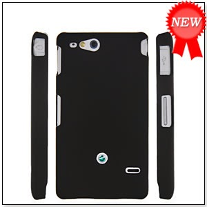 HARD RUBBERIZED RUBBER COATING BACK CASE COVER FOR SONY XPERIA GO ST27i BLACK