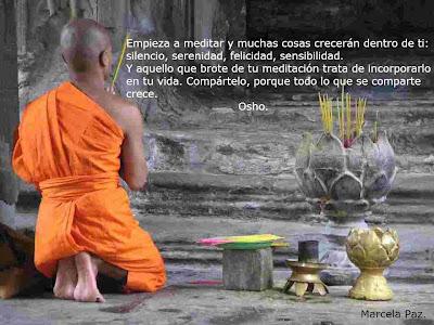"""Frases de Osho: """"Meditación"""""""