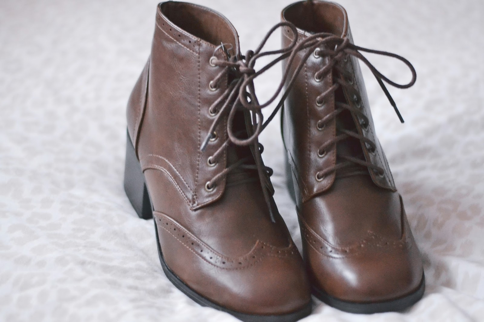 new look tan lace up boots