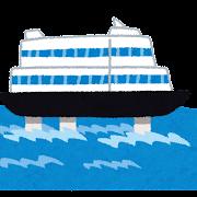 水中翼船・ハイドロフォイルのイラスト