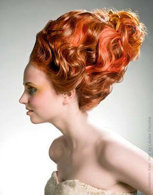 Marie Antoinette Hairstyle, Red Hair, Redhead, Avante Garde, Sexy Hair, Photoshoot Hairstyles, Catwalk Hair